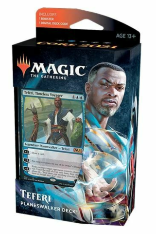 Magic Core Set 2021 Planeswalker Deck Teferi_boxshot