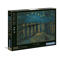 1000 bitar - Museum Collection: Van Gogh Starry Night Over the Rhone