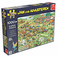 1000 Bitar - Jan Van Haasteren: Lawn Mower Race